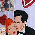 Lucille Ball At Peggy Sues Diner In Yermo California by Robert Ford