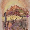 Macgregors Barn Pstl by Carol Wisniewski