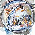 Mackerel Mussels Leaves by Grace Keown