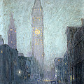 Madison Avenue At Twilight by Lowell Birge Harrison