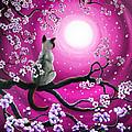 Magenta Morning Sakura by Laura Iverson