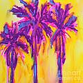 Magenta Palm Trees by Patricia Awapara