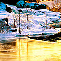Maine Winter Along The Androscoggin River by Bob Orsillo