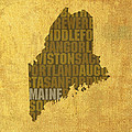 Maine Word Art State Map On Canvas by Design Turnpike