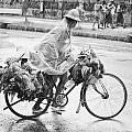 Man Riding Bicycle Carrying Chickens by Stuart Corlett