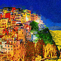 Manarola By Night by George Rossidis