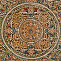 Mandala Of Heruka In Yab Yum And Buddhas by Lanjee Chee