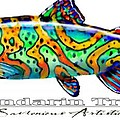 Mandarin Trout Savlenicus Artisticus Poster by Mike Savlen