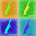 Manhattan Pop Art Map 2 by Naxart Studio