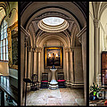 Mansion Hallway Triptych by Adrian Evans