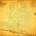 Map Of Detroit Michigan C 1835 by Design Turnpike