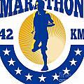 Marathon Runner Athlete Running by Aloysius Patrimonio