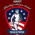 Marathon Runner Finish What You Start Poster by Aloysius Patrimonio
