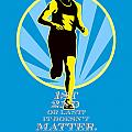 Marathon Runner First Retro Poster by Aloysius Patrimonio