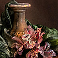 Marble Vase With Lilies by Hugo Bussen