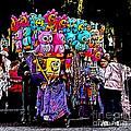 Mardi Gras Vendor's Cart by Marian Bell
