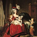 Marie Antoinette And Her Children by Elisabeth Louise Vigee-Lebrun