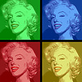 Marilyn Monroe Colored Frame Pop Art by Daniel Hagerman