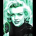 Marilyn Monroe - Green by Absinthe Art By Michelle LeAnn Scott