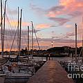 Marina In Desenzano Del Garda Sunrise by Kiril Stanchev
