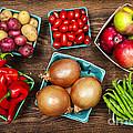 Market Fruits And Vegetables by Elena Elisseeva
