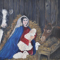 Mary And Baby Jesus by Linda Clark