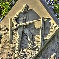 Massachusetts At Gettysburg 1st Mass. Volunteer Infantry Skirmishers Close 1 Steinwehr Ave Autumn by Michael Mazaika