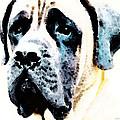 Mastif Dog Art - Misunderstood by Sharon Cummings