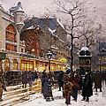 Matinee au Moulin Rouge Paris Print by Eugene Galien-Laloue