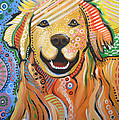 Max ... Abstract Dog Art...golden Retriever by Amy Giacomelli