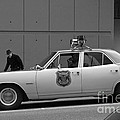Mayberry Meets Seattle - Vintage Police Cruiser by Jane Eleanor Nicholas