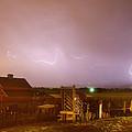 Mcintosh Farm Lightning Thunderstorm View by James BO  Insogna