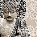 Meditation Mehndi - Paisley Buddha Artwork - Copyrighted by Christopher Beikmann