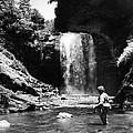Men Trout Fishing by Retro Images Archive