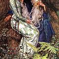 Merlin And Vivien by Eleanor Fortescue Brickdale