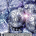 Merry Christmas Blue by Mo T