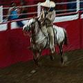 Mexican Cowboy July 4th Rodeo Chandler Arizona 1999 by David Lee Guss
