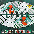Miami Dolphins Football Recycled License Plate Art by Design Turnpike
