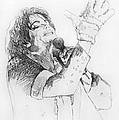 Michael Jackson Passion Sketch by David Lloyd Glover