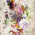 Michael Jordan Print by Aged Pixel