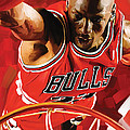 Michael Jordan Artwork 3 by Sheraz A