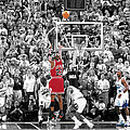 Michael Jordan Buzzer Beater Print by BRIAN REAVES