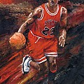 Michael Jordan Chicago Bulls Basketball Legend by Christiaan Bekker