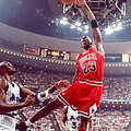 Michael Jordan Dunks With Left Hand by Retro Images Archive