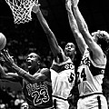 Michael Jordan Going For A Hard Layup by Retro Images Archive