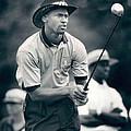 Michael Jordan Looks At Golf Shot by Retro Images Archive