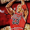 Michael Jordan Oil Painting by Dan Troyer