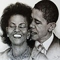 Michelle Et Barack Obama by Guillaume Bruno