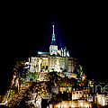 Midnight Mont Saint Michel by Olivier Le Queinec