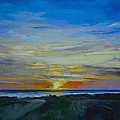 Midnight Sun Print by Michael Creese
